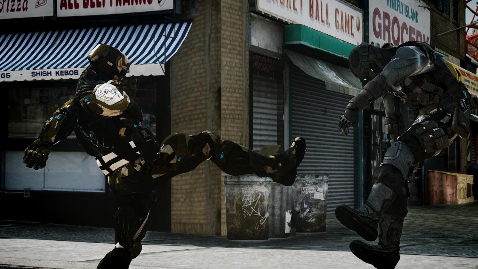 GTA 5,GTAV,GTA IV Mods and Skins: GTA 4 MOD :Crysis 3 The Hunter