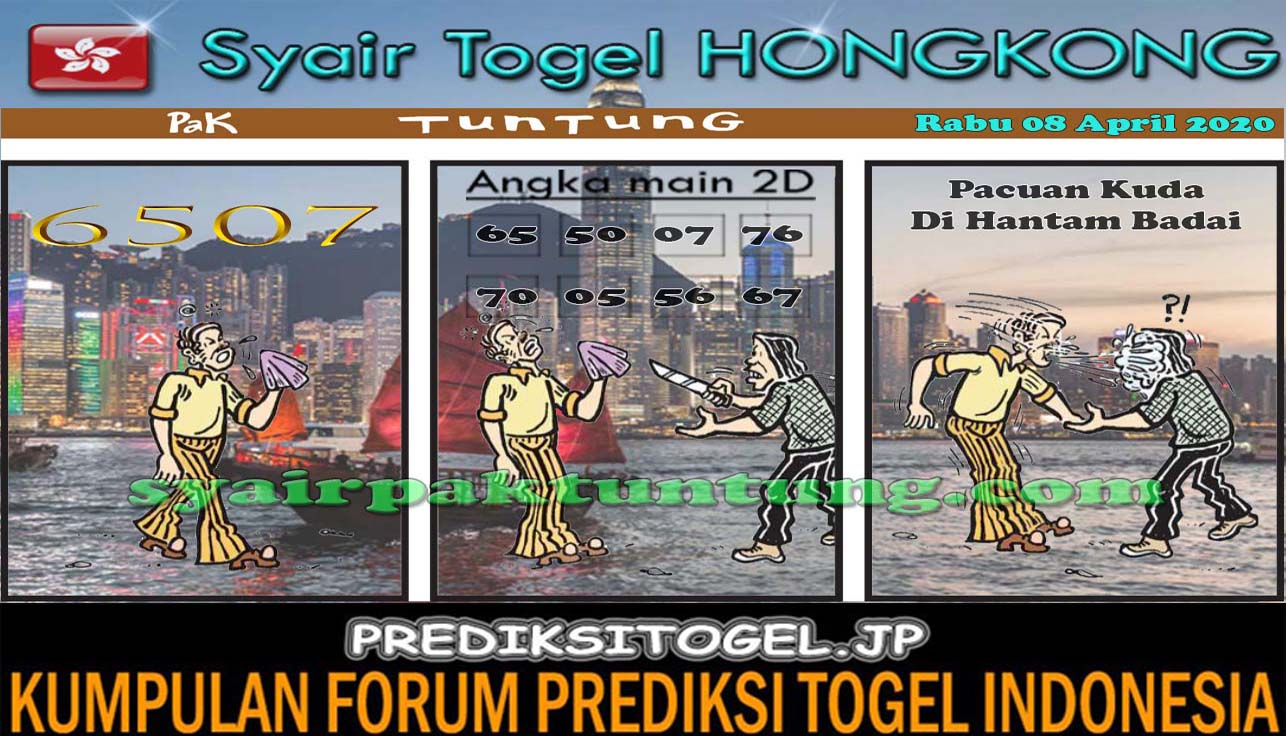 Prediksi HK Rabu 08 April 2020 - Prediksi HK Pak Tuntung