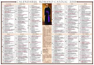 Calendar Romano-Catolic 2018,