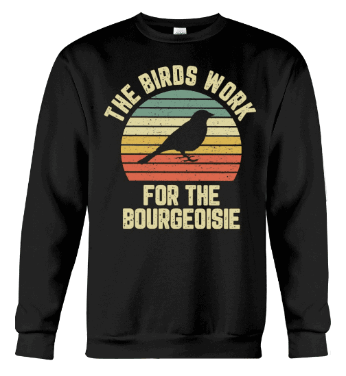 the birds work for the bourgeoisie hoodie, the birds work for the bourgeoisie hoodie amazon, the birds work for the bourgeoisie sweatshirt, the birds work for the bourgeoisie tee shirt,