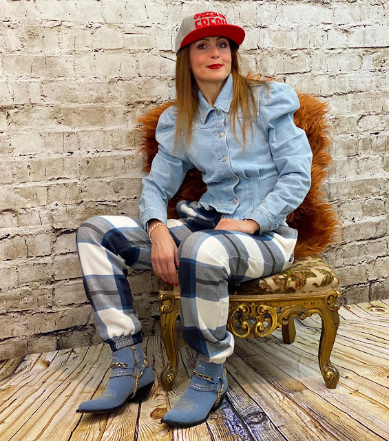 Femmeluxe check trousers
