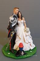 decorazione torta nuziale i migliori cake topper realizzati a mano scultura cake topper pezzo unico orme magiche
