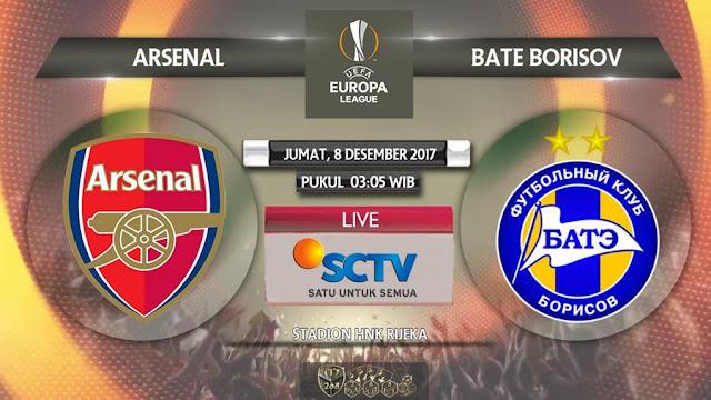 Prediksi Bola : Arsenal Vs BATE Borisov , Jumat 08 Desember 2017 Pukul 03.05 WIB @ SCTV