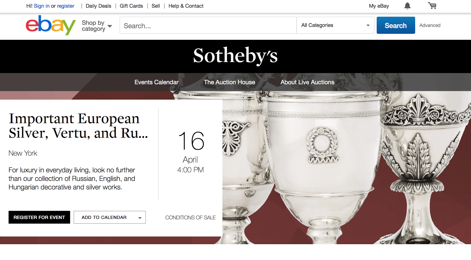 Auc The Art Market 2015 Sotheby S And Ebay S Partnership B2c Or B2b