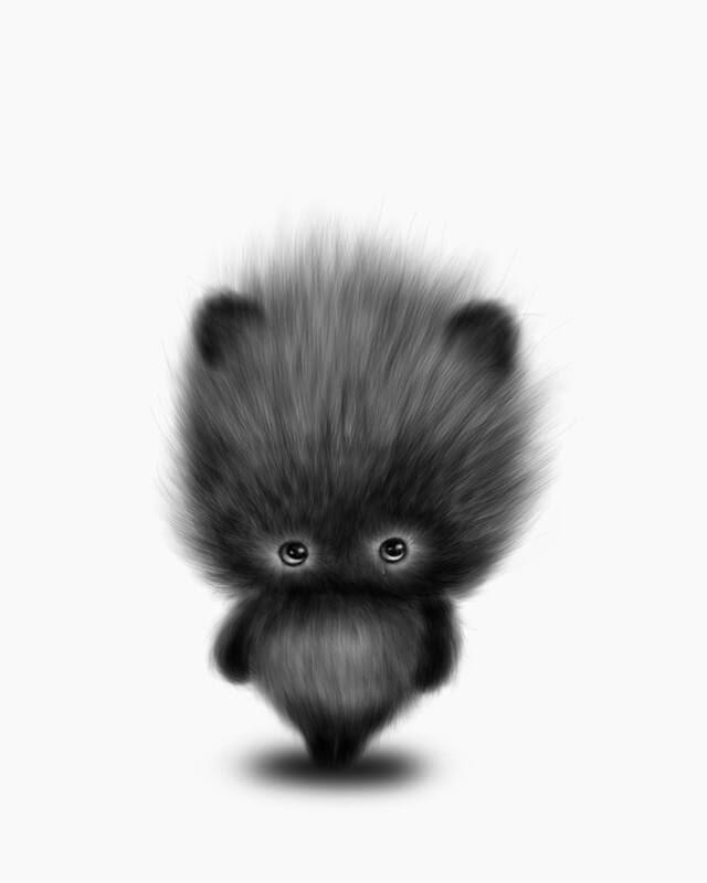 02-Shy-Maria-Fluffy-Animals-in-Digital-Art-Creatures-www-designstack-co