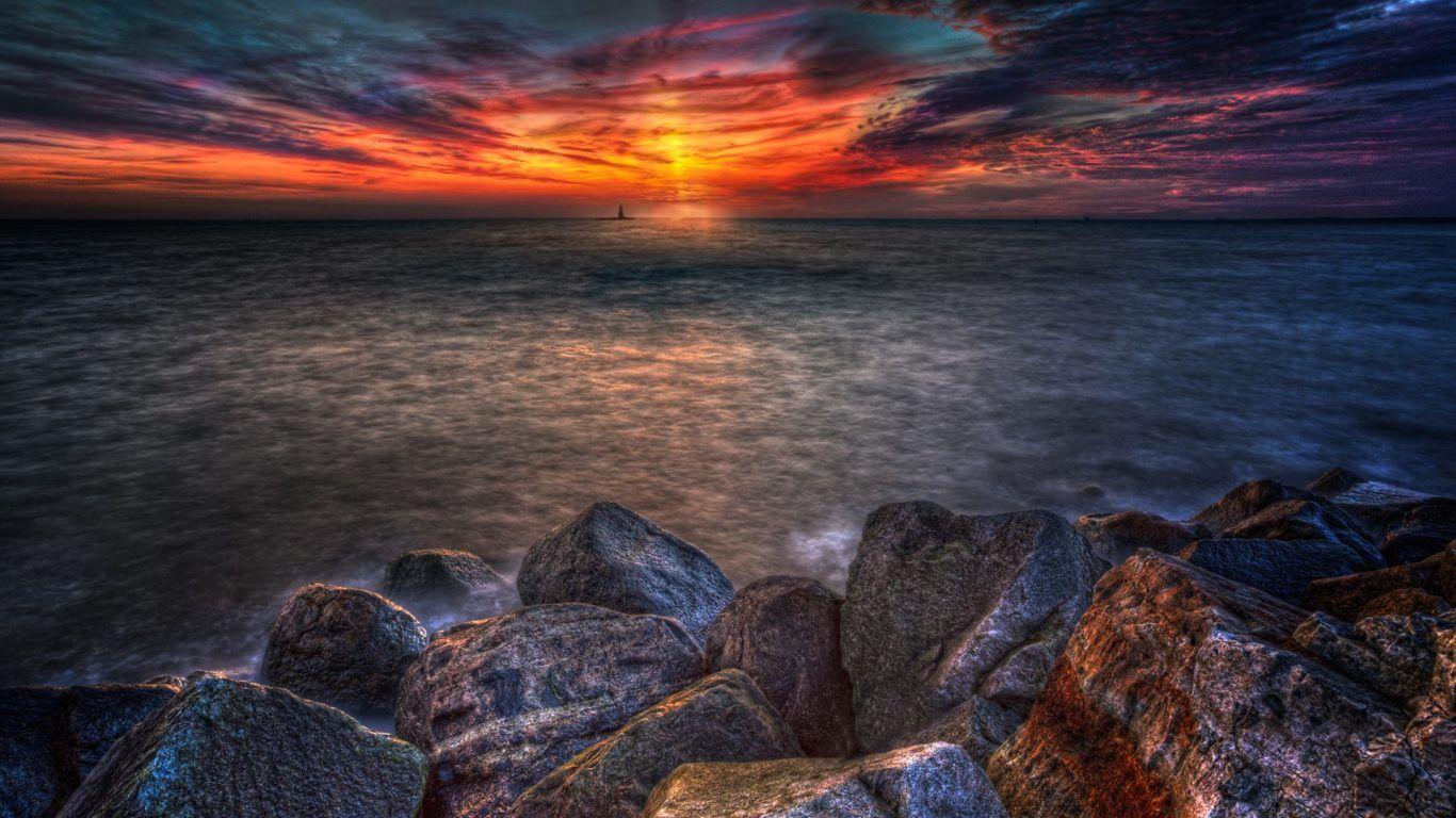 Sunset: Acadia National Park Coast Sky Sea Trees Sun Nat Sunset wallpapers