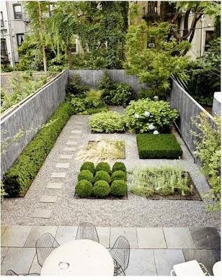 Bonito jardín en patios pequeños