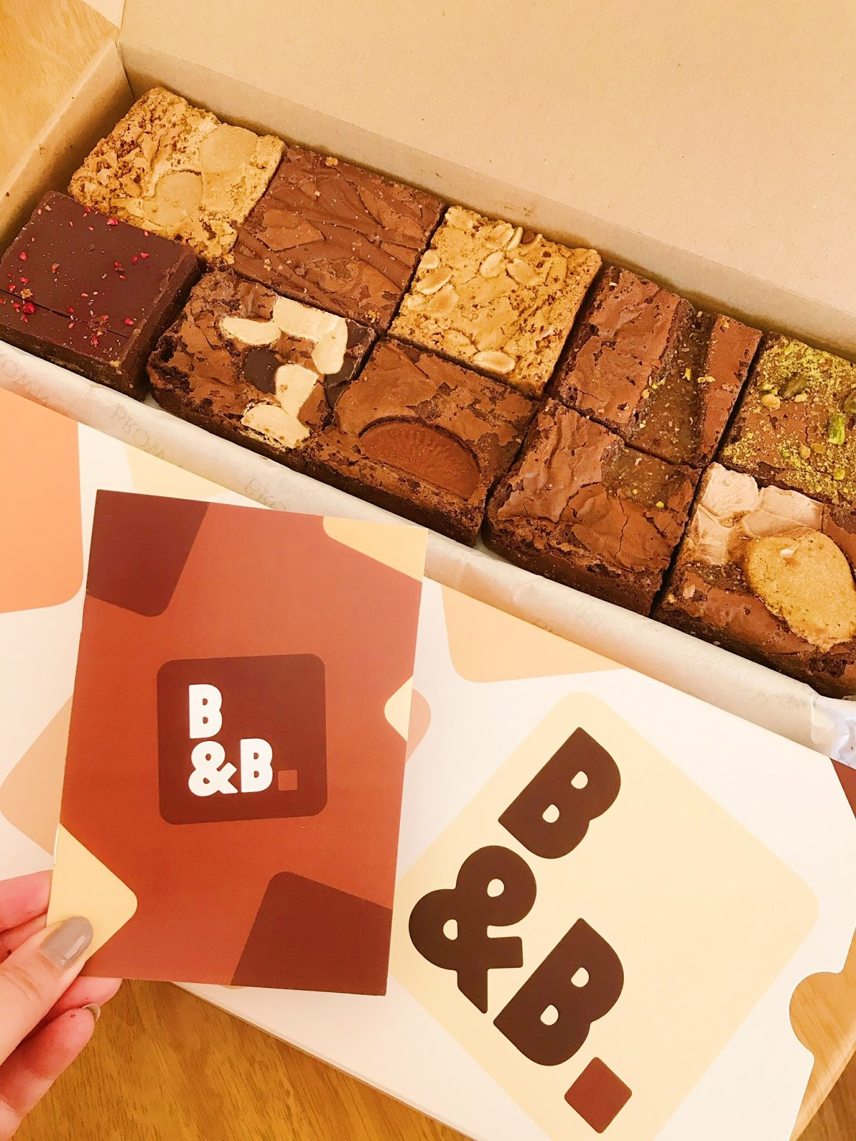 Brown and Blond brownies