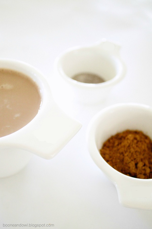 3 Ingredient Mocha Frappe Recipe via Boone & Owl | booneandowl.blogspot.com
