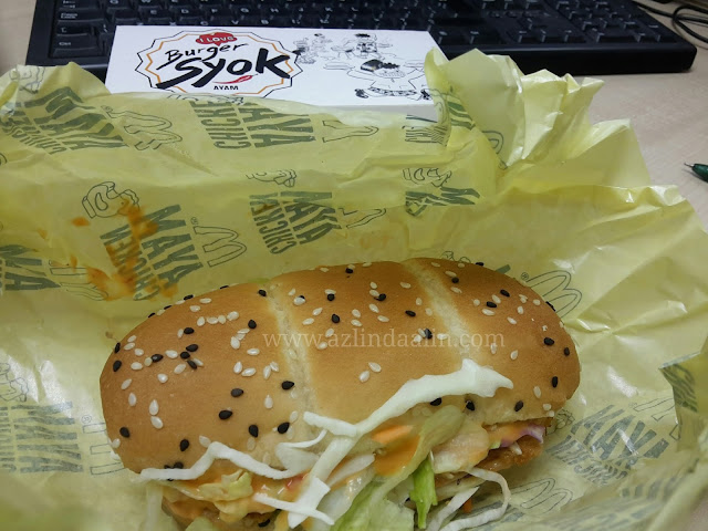 Burger Syok Mc Donald's Sedap !