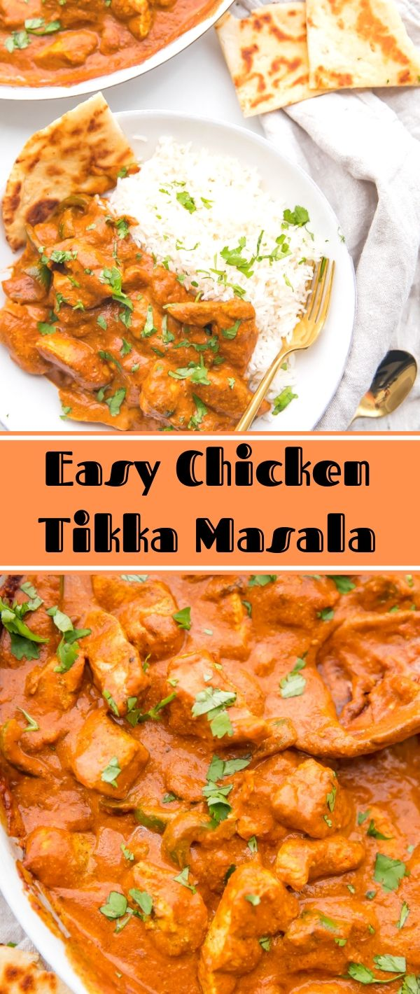 Easy Chicken Tikka Masala #Easy #Chicken #Tikka #Masala Healthy Recipes For Weight Loss, Healthy Recipes Easy, Healthy Recipes Dinner, Healthy Recipes Best, Healthy Recipes On A Budget, Healthy Recipes Clean,