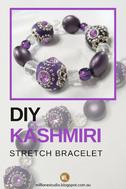 Opulent Kashmiri Bead Stretch Bracelet inspiration sheet