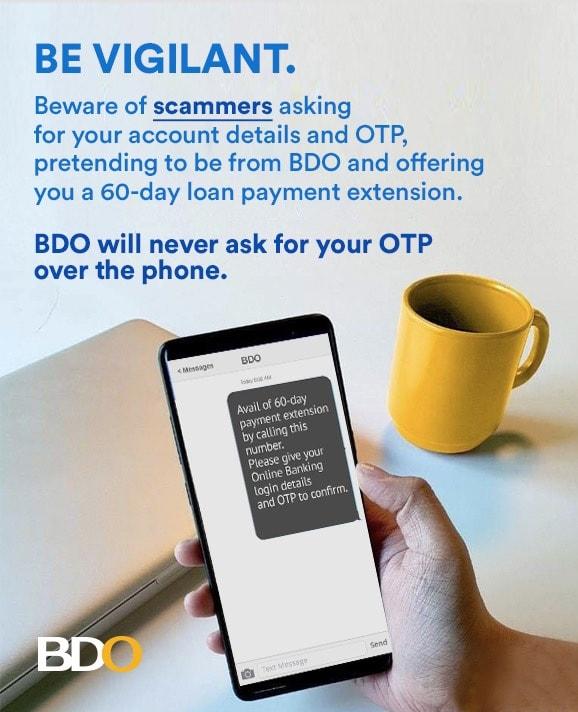 Be Smarter than a Scammer - #BDOAntiScam