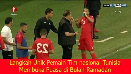 Langkah Unik Pemain Tim nasional Tunisia Membuka Puasa di Bulan Ramadan