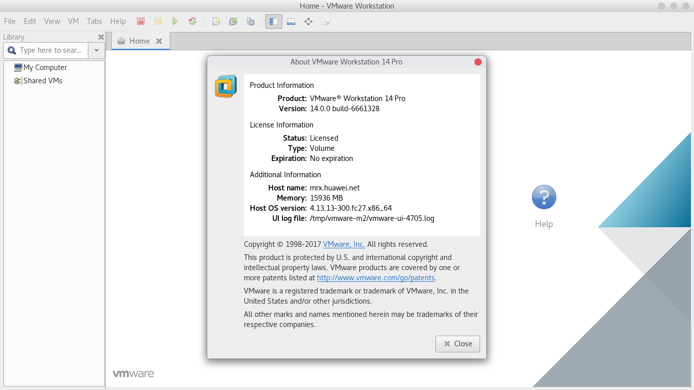 Instalar VMware Workstation Pro 14 en Fedora 27
