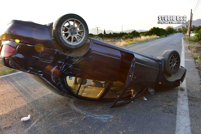 Αργολίδα: Εκτροπή ανατροπή αυτοκινήτου με τραυματισμό στο Λάλουκα