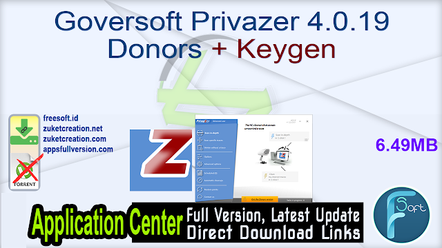 Goversoft Privazer 4.0.19 Donors + Keygen