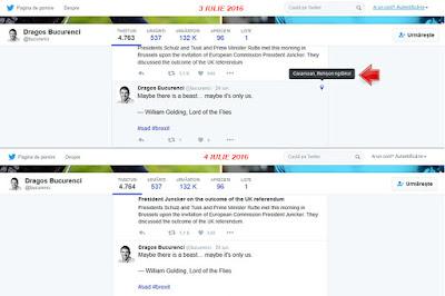 Dragoș Bucurenci a dezactivat localizarea la toate postările sale de pe Twitter
