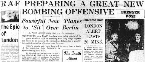 7 October 1940 worldwartwo.filminspector.com Daily Mail headlines