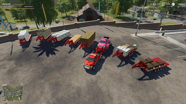 FS19 2014 Pickup with semi-trailer and autoload v1.1