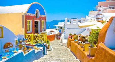 De turismo por Santorini, Grecia