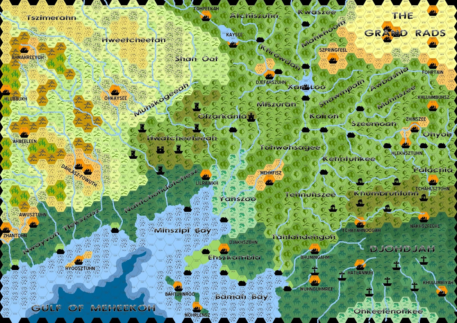 Hexographer World Map.Adventures In Gaming V2 Gamma World Mutant Future New Map Of