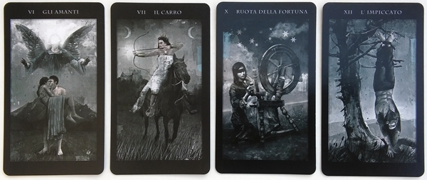 Tarot deck review the darkness of light tarot bohemianess the cards are dark and mostly blacks whites and greys with small splashes of color here and there the most vibrant cards are in the wands suit aloadofball Gallery
