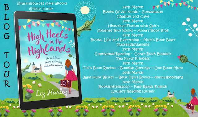 High Heels in the Highlands by Liz Hurley blog tour banner