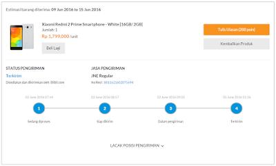 Beli HP Xiaomi Redmi 2 Prime di Toko Online