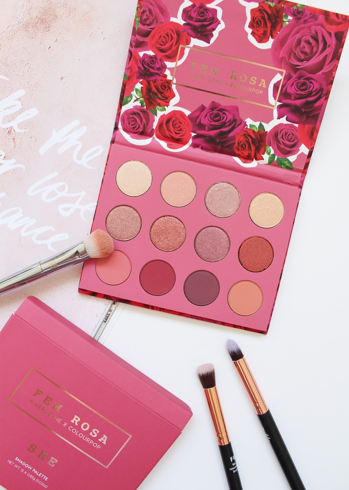 COLOURPOP | Fem Rosa She Pressed Shadow Palette - Review + Swatches - CassandraMyee