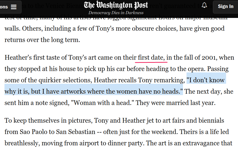tony podesta washington post art article pizzagate women without heads