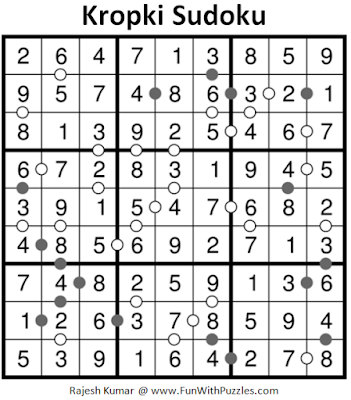 Kropki Sudoku (Fun With Sudoku #186) Solution