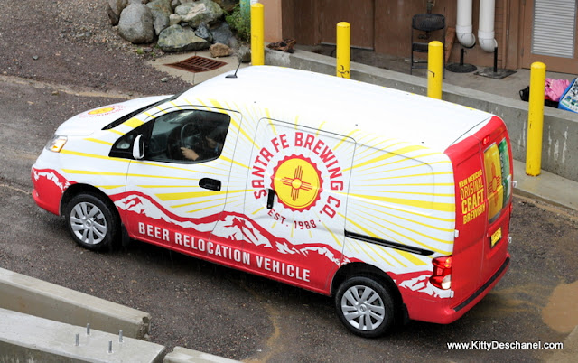 santa fe brewing beer relocation vehicle