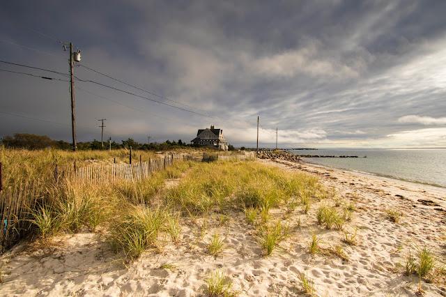 Strada costiera verso Woods Hole-Cape Cod