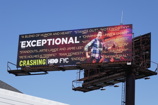 Crashing 2018 Emmy consideration billboard