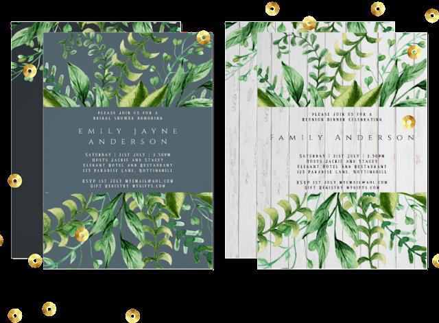 rustic greenery invitations