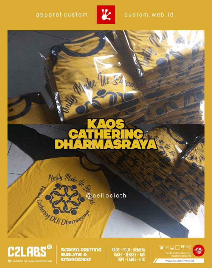 Dhamasraya Gathering Sablon Kaos Jogja Custom - C2Labs