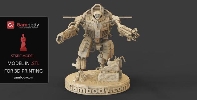 Warhammer40k TAU XV109 Y'Vahra 3D action figure