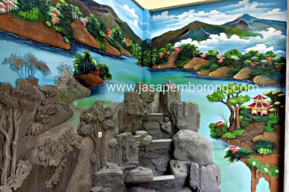 Jasa Tukang Kolam Relief Tebing di Blora | Jasa Pembuatan Dekorasi Kolam Air Terjun Blora