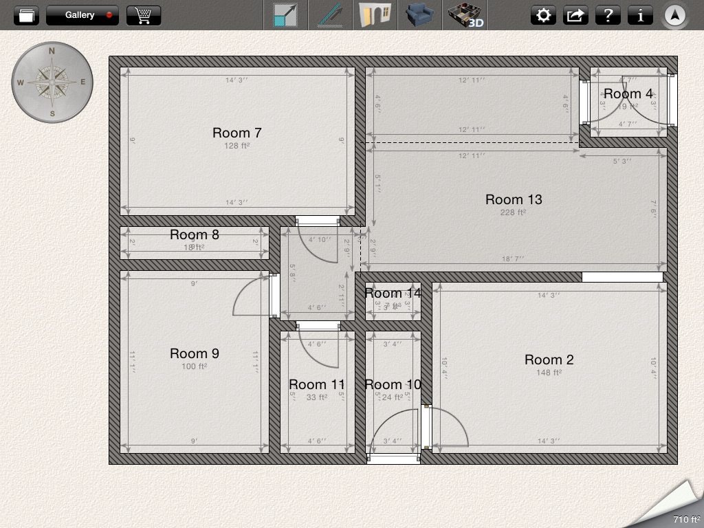 Original Main Floor Layout  Layout Created Using Home Design 3D