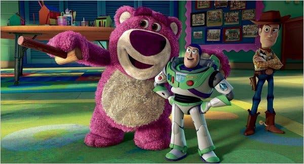 Woody, Buzz y Lotso de Toy Story