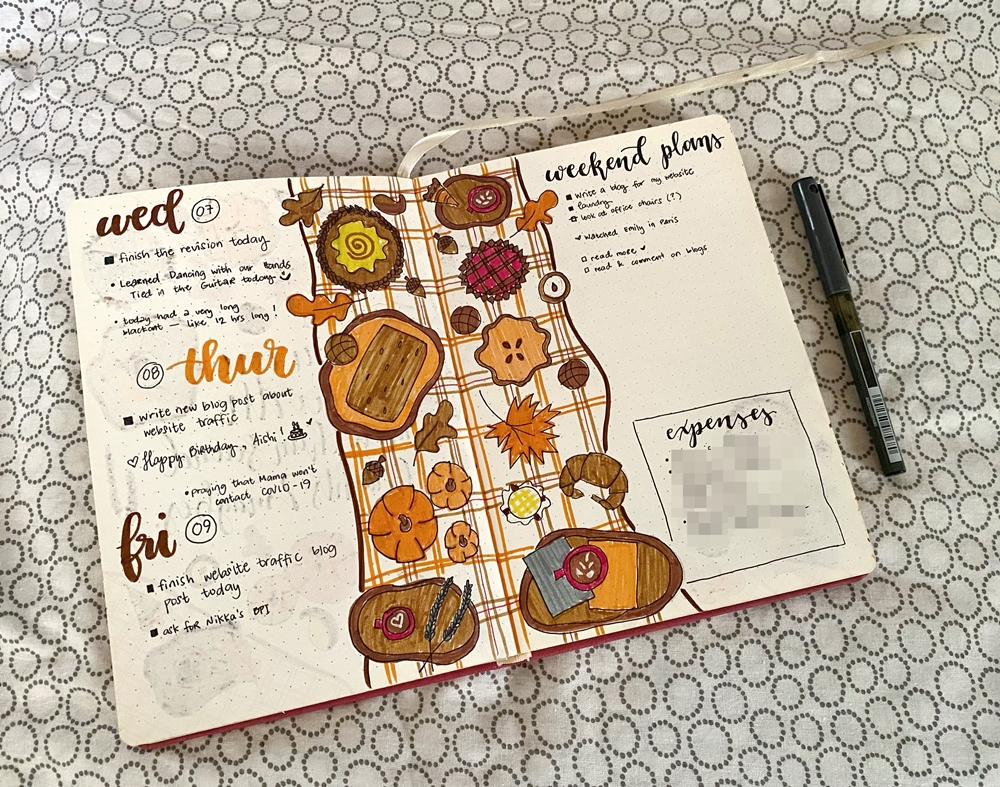 October 2020 Weekly Spread - Renee Alexis