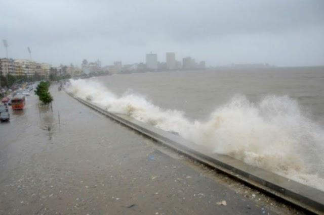 मुंबई में  शुरू हुई बारिश,  साथ है तेज हवा ,दो दिन के लिए सभी बिच बंद