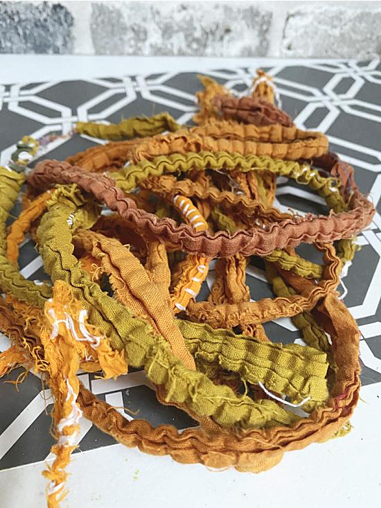 fall colored rag strands