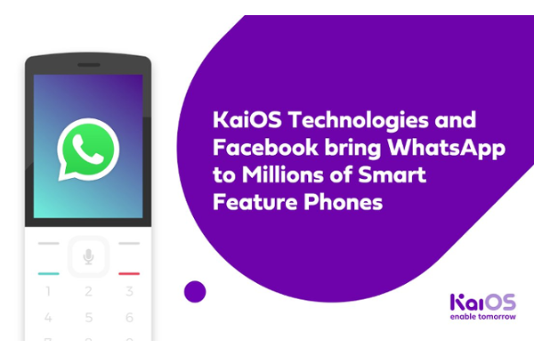 WhatsApp launches on KaiOS-powered smart feature phones