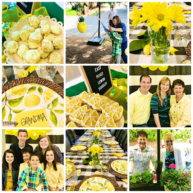 Lemon party for mom @michellepaigeblogs.com