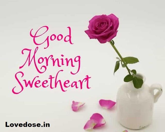 good morning flower image for love