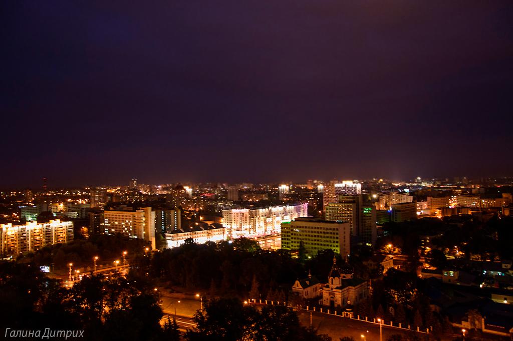 Ночной Минск с высоты фото