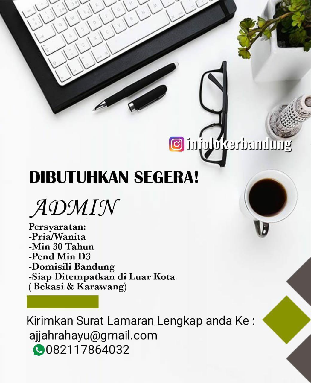 Lowongan Kerja Admin Bandung Juni 2019