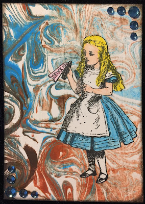 Alice in Wonderland ATC (Artist Trading Card)